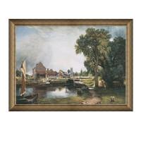 雅昌 康斯坦布尔《德·黑姆的磨坊》86×64cm 装饰画 油画布