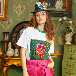 MIKABANA 米可芭纳 白雪公主联名款 M02TT1420W77 女士T恤