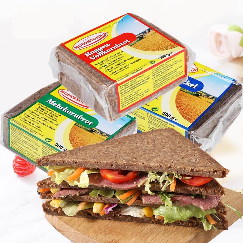 德运 低脂全麦黑麦面包 500g