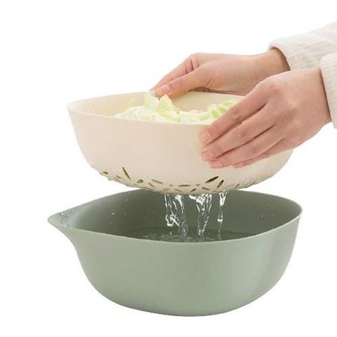 hommy 佳佰 DL05000-B 双层塑料洗菜沥水盆