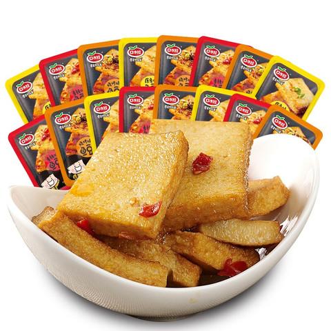 口水娃 混合味鱼豆腐 休闲零食小吃 豆腐干 豆干豆腐皮 网红速食210g