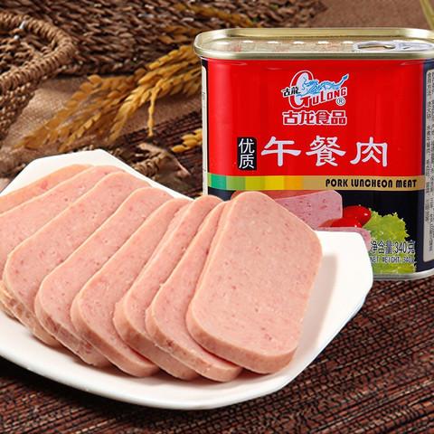 古龙食品 午餐肉罐头 火锅泡面早餐搭档340g 优质出品