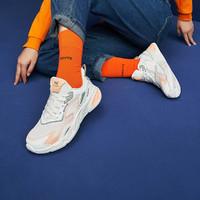 【爆款推荐】夏季女跑鞋网面透气女式运动跑鞋女鞋跑步鞋 38 羽毛白/微量橙