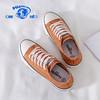 环球(HUANQIU)2021夏季新款百搭韩版原宿ulzzang帆布鞋女ins潮流休闲板鞋 脏桔 39 女款