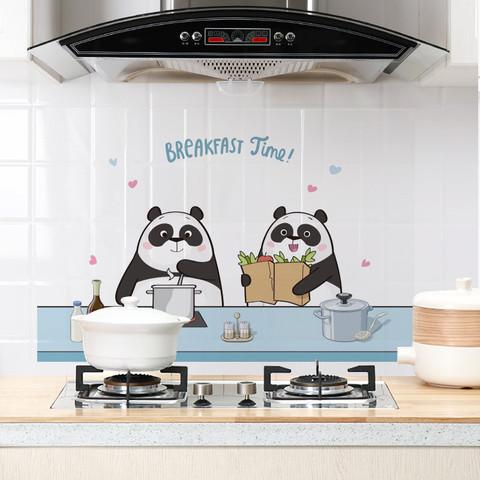 透明厨房防油贴纸防水柜灶台用油烟机耐高温瓷砖橱柜壁纸墙贴自粘
