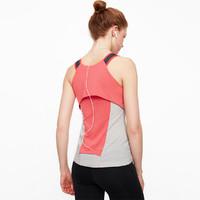 粒子狂热 PF运动背心 瑜伽健身服 t恤 珊瑚红色 M
