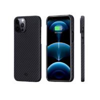 PITAKA iPhone12Pro Max 磁吸纤维手机壳 黑灰斜纹