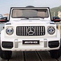 宝贝虎 BBH-222 奔驰四驱儿童电动车 白色 软胎款