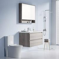 diiib 大白 温暖你 浴室柜+三功能花洒+马桶浴室套装(不含安装)