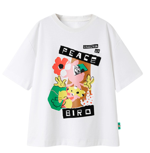 PEACEBIRD 太平鸟 米妮联名 女士圆领短袖T恤 AYDAB2A