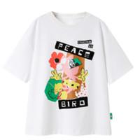PEACEBIRD 太平鸟 米妮联名 女士圆领短袖T恤 AYDAB2A1981 白色 S