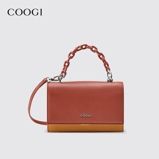 COOGI E306228302 女士炫彩链条拼色小方包