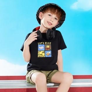 JEANSWEST 真维斯 男童时尚印花短袖T恤