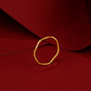 ZLF 周六福 AW015681 足金素圈戒指