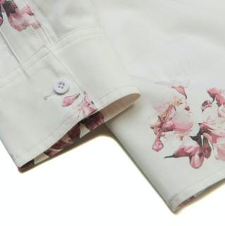 LI-NING 李宁 樱花系列 中性休闲衬衫 ASHR090
