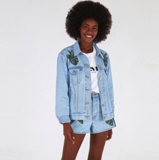 Levi's 李维斯 FARM Rio自然·未来联名系列 女士牛仔外套 87153-0000