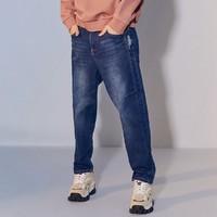 Meters bonwe 美特斯邦威 757W4006100066P387204 男士直筒舒适简约牛仔裤