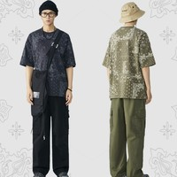 PEACEBIRD MEN 太平鸟 BWDAB1522 腰果花短袖T恤