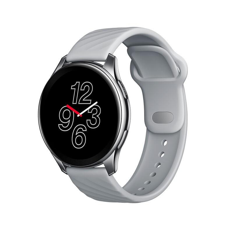 OnePlus 一加 Watch 一加手表 月银 智能运动户外手表 两周续航 蓝牙通话 Warp闪充 心率血氧睡眠监测