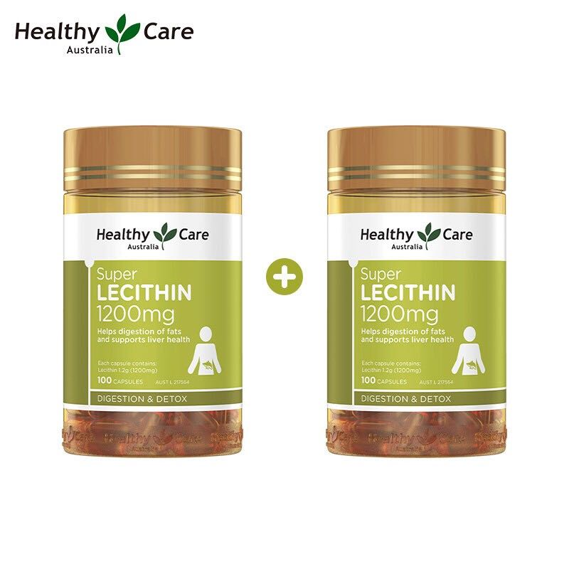 HealthyCare 大豆卵磷脂软胶囊 100粒*2瓶