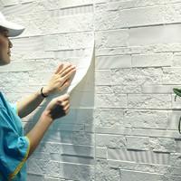 墻紙自粘3d立體墻貼客廳臥室背景墻貼磚紋壁紙文化石貼紙防水防潮