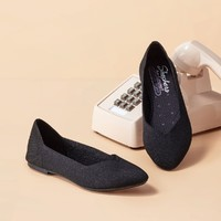 SKECHERS 斯凯奇  44878-BLK  女士一脚蹬休闲鞋