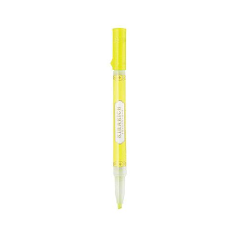 日本斑马牌 (ZEBRA)晶亮荧光笔 彩色标记笔 Kirarich系列学生记号笔 WKS18 黄色