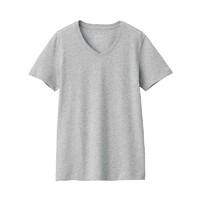 MUJI 无印良品 BBA02A0S 女式V领短袖T恤