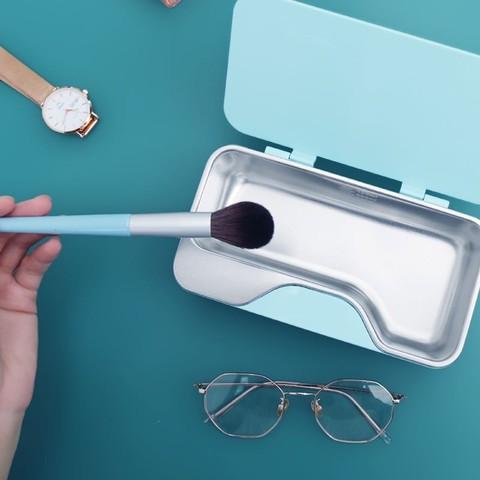 洁盟 超声波清洗机 眼镜家用小型全自动便携清洗机首饰耳环耳坠手环手表假牙牙套化妆刷牙刷清洗器 梦幻蓝
