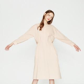 ME&CITY | mecity女装文艺小清新腰部抽绳系带连衣裙