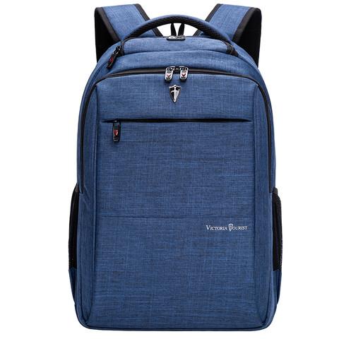 维多利亚旅行者 VICTORIATOURIST 双肩包电脑包15.6英寸 男女商务防水双肩背包V9006蓝色电脑数码包