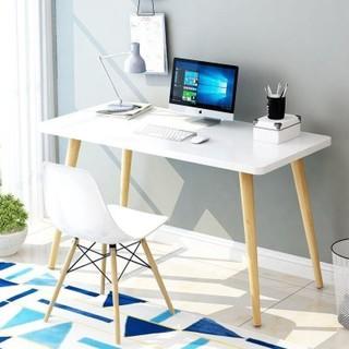 姿美蒂 北欧台式家用实木书桌  80*40*75cm单桌