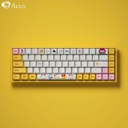 AKKO 3068 蓝牙5.0/有线双模 RGB 无线机械键盘 哆啦美配色