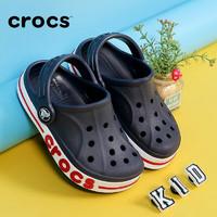 Crocs卡骆驰拖鞋儿童洞洞鞋男童女童2021新款运动休闲鞋贝雅卡骆班儿童宝宝凉鞋童鞋205100