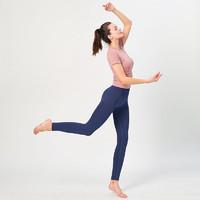 范迪慕 健身裤女瑜伽服秋冬修身提臀显瘦外户外跑步运动裤训练运动长裤 P011-藏蓝色-健身长裤-M