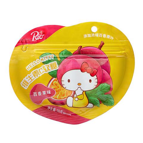 RioX三丽鸥联名款 HelloKitty维生素C软糖 百香果味 休闲儿童水果汁糖果