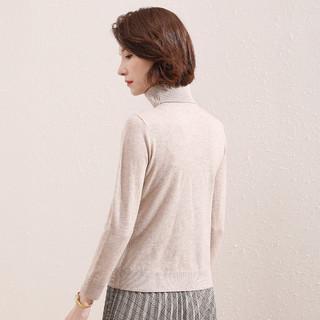 【100%绵羊毛】春秋纯色百搭毛衣针织打底衫女式纯羊毛衫女