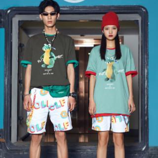 A21 A+玩偶系列 男女款圆领短袖T恤 F412131005