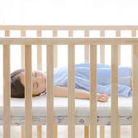 贝影随行 BB01SS 婴儿床+床垫+精棉9件套 经典款 原木色