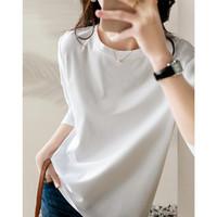 【限量特卖 售完不补】气质圆领纯色百搭打底长袖T恤女新疆棉