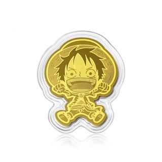 Chow Sang Sang 周生生 One Piece「航海王」系列 91902D 路飞足金金片 0.2g