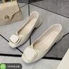 RED DRAGONFLY 红蜻蜓 JJ21229023063 女士时尚金属扣舒适浅口单鞋