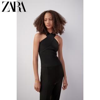 ZARA 新款 女装 交叉肩带针织上衣 08146001800