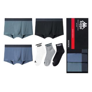 Kappa 卡帕 KAPPA 卡帕 男士平角内裤莫代尔+袜子套装
