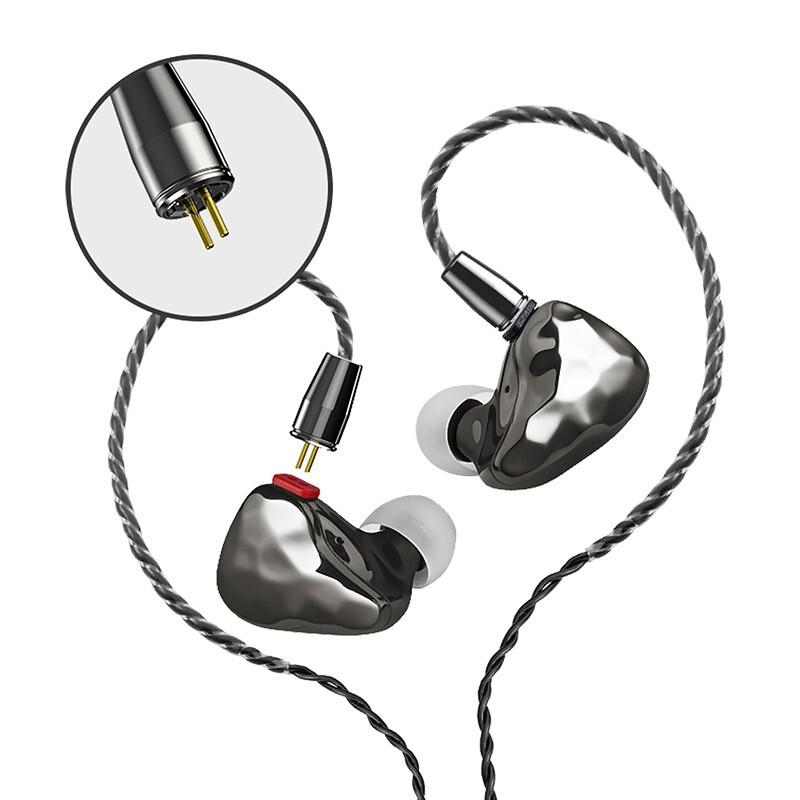 ikko Obsidian OH10 入耳式有线耳机 黑色 3.5mm