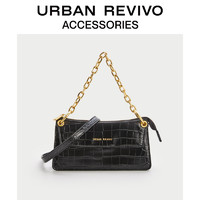 URBAN REVIVO2021春夏新品女士配件复古链条单肩女包AW14BG3N2000