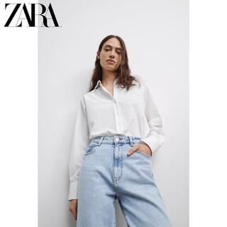 ZARA 新款 女装 Z1975 宽松舒适版型牛仔裤 07223021406