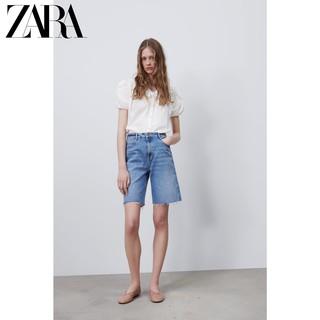 ZARA 新款 女装 高腰牛仔短裤 00108024427