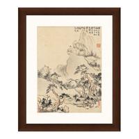 雅昌 华嵒《夕阳远眺图》38×46cm 装饰画 宣纸