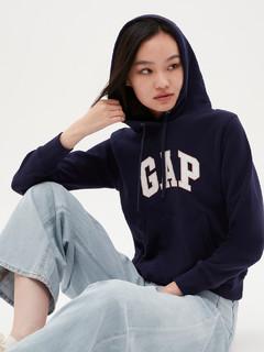 Gap 盖璞 女装 碳素软磨系列 徽标LOGO基本款休闲套头卫衣